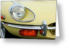 1970 Jaguar Xk Type-e Headlight Greeting Card