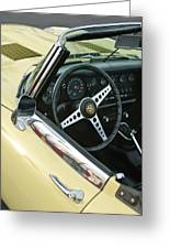1970 Jaguar Xk Type-e Steering Wheel Greeting Card
