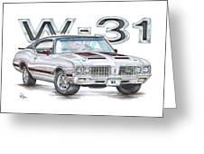 1970 Oldsmobile W-31 Greeting Card