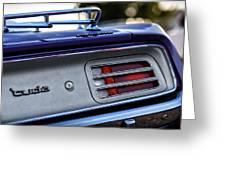 1970 Plum Crazy Purple Plymouth 'cuda Greeting Card
