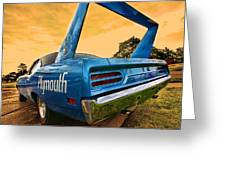 1970 Plymouth Road Runner Superbird Greeting Card