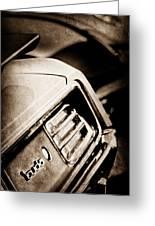 1970 Pontiac Barracuda Cuda Taillight Emblem Greeting Card