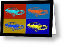 1971 Chevrolet Chevelle Ss Pop Art Greeting Card
