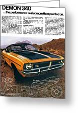 1971 Dodge Demon 340 Greeting Card