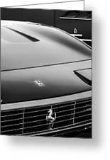1971 Ferrari 365 Gtc-4 Grille Emblem -1541bw Greeting Card