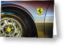 1971 Ferrari Dino Gt Wheel Emblem -027c Greeting Card