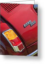 1971 Fiat 500 Jolly Taillight Greeting Card