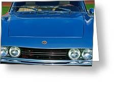 1971 Fiat Dino 2.4 Grille Greeting Card