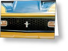 1971 Ford Mustang Mach 1 Front End Greeting Card