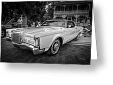1971 Lincoln Continental Mark IIi Painted Bw   Greeting Card