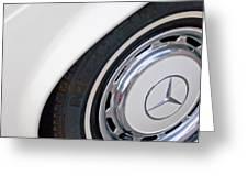 1971 Mercedes-benz Wheel Emblem Greeting Card