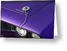 1971 Plum Crazy Purple Plymouth 'cuda 440 Greeting Card by Gordon Dean II