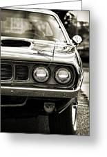 1971 Plymouth Cuda 383 Greeting Card