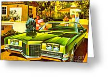 1971 Pontiac Bonneville Coupe Greeting Card
