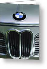 1972 Bmw 2000 Tii Touring Grille Emblem Greeting Card