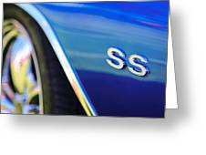 1972 Chevrolet Chevelle Ss Emblem Greeting Card