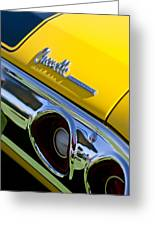 1972 Chevrolet Chevelle Taillight Emblem Greeting Card