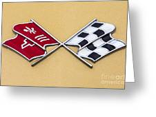 1972 Corvette Crossed Flags Greeting Card