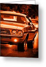 1972 Dodge Challenger In Orange Greeting Card