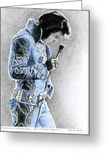 1972 Light Blue Wheat Suit Greeting Card