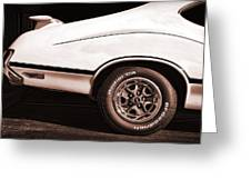 1972 Oldsmobile Cutlass 4-4-2 Greeting Card