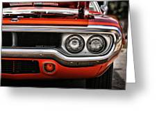 1972 Plymouth Road Runner Greeting Card