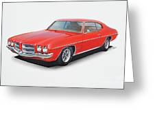 1972 Pontiac Lemans Greeting Card