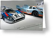 1972 Porsche 917 Lh Coupe And 1970 Porsche 917 Kh Coupe Greeting Card