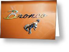 1973 Ford Bronco Ranger Emblem Greeting Card by Jill Reger