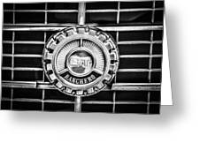 1973 Ford Ranchero Grille Emblem -0769bw Greeting Card