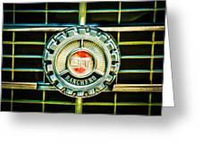 1973 Ford Ranchero Grille Emblem -0769c Greeting Card