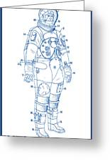1973 Nasa Astronaut Space Suit Patent Art 2 Greeting Card