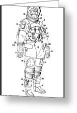 1973 Nasa Astronaut Space Suit Patent Art 3 Greeting Card