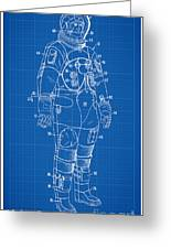 1973 Nasa Astronaut Space Suit Patent Art Greeting Card