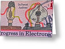 1973 Progress In Electronics Stamp Greeting Card