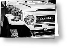 1973 Toyota Fj40 Land Cruiser Grille Emblem -1918bw Greeting Card