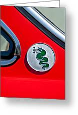 1974 Alfa Romeo Gtv Emblem  Greeting Card