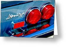 1974 Ferrari Dino Targa Gts Taillight Emblem Greeting Card