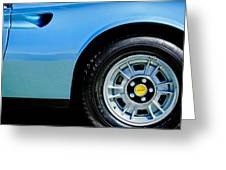 1974 Ferrari Dino Targa Gts Wheel Emblem Greeting Card