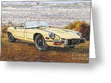 1974 Jaguar Xke Illustration Greeting Card