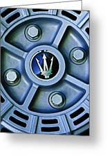 1974 Maserati Merak Wheel Emblem Greeting Card