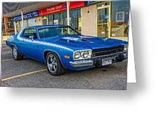 1974 Plymouth Roadrunner Greeting Card