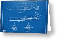 1975 Space Vehicle Patent - Blueprint Greeting Card by Nikki Marie Smith
