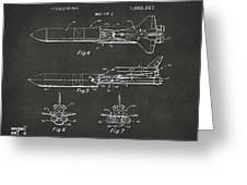 1975 Space Vehicle Patent - Gray Greeting Card