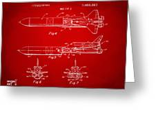 1975 Space Vehicle Patent - Red Greeting Card