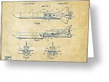 1975 Space Vehicle Patent - Vintage Greeting Card