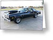 1976 Chevy Malibu Modified Muscle Car Greeting Card
