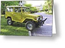 1976 Toyota Landcruiser Greeting Card