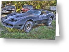 1977 Corvette Black Greeting Card
