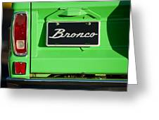 1977 Ford Bronco Taillight Greeting Card